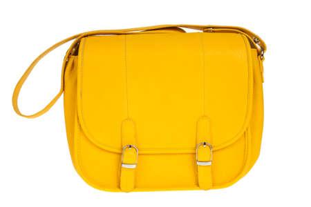 Yellow women bag isolated on white background Stock Photo - 14764665