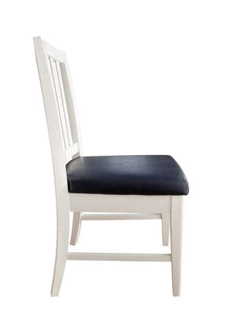 isolation white: White chair isolated Stock Photo
