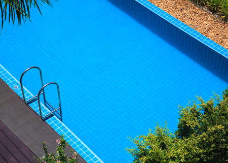 blue swimming pool summer vacation photo