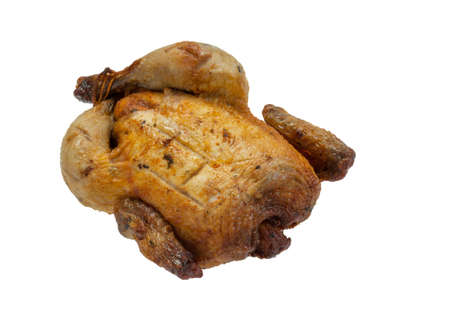 Roasted chicken or turkey on white background Stock Photo - 15575801