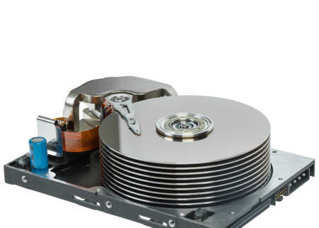 optical disk: close up of hard disk Stock Photo