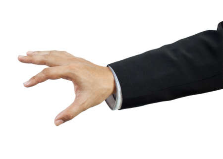 grabbing hand: business man hand Stock Photo