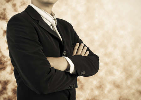 business man standing with confidence photo