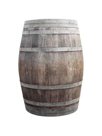 wine barrel on white photo