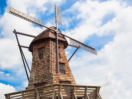 wooden windmills photo