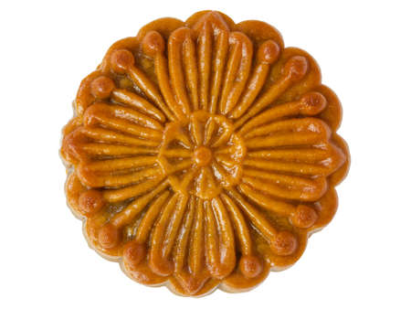 Chinese moon cake, top view photo