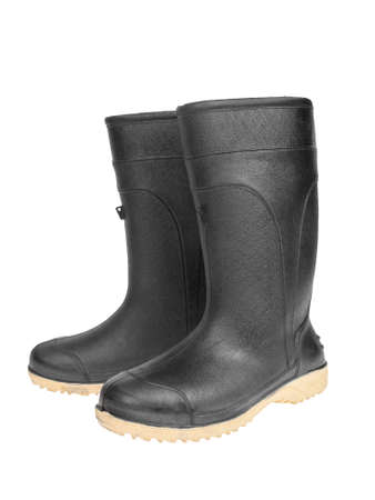 rubber boot black color photo