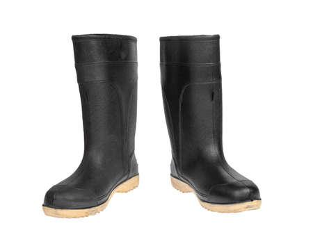 rubber boot black color photo
