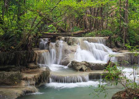 Erawan Waterfall, level 5 Kanchanaburi, Thailand Stock Photo - 16153377