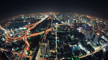 Cityscape night, Bangkok bird eye view photo