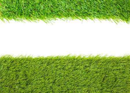 pasto sintetico: C�sped artificial verde japon�s Foto de archivo