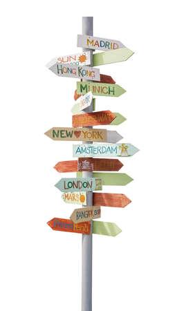 travel locations: travel traffic sign