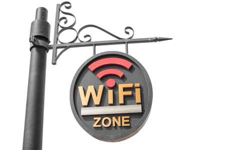 hotspot: WiFi hotspot sign pole