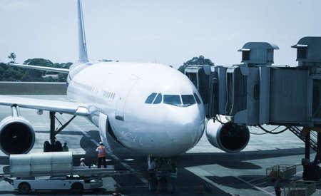 fuselage: airport ground crew service Editorial