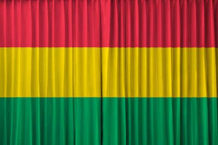 bandera de bolivia: Bolivia bandera en la cortina