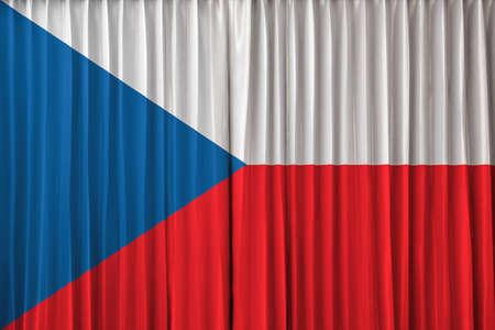 Czech Republic flag on curtain Stock Photo - 22639458