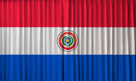 bandera de paraguay: Bandera de Paraguay en la cortina