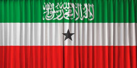 somaliland: Somaliland flag on curtain