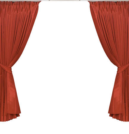 red curtains  photo