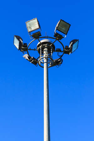 Stadium light pole photo