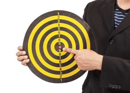 business target, hand aiming or pointing photo