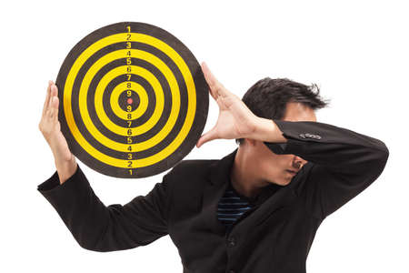 businessman holding target photo