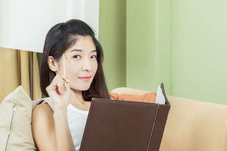 Asian young business woman working photo