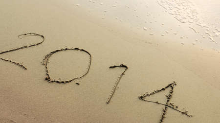 twenty thirteen: New Year 2014 coming Stock Photo