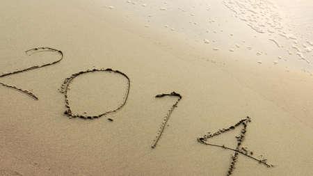 twenty thirteen: New Year 2014 coming Stock Photo
