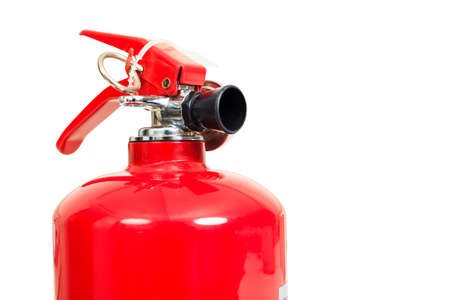fire safety: fire extinguisher head isolate on white background Stock Photo