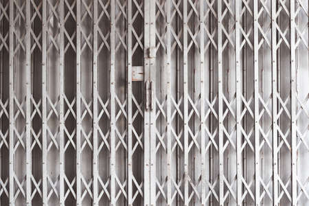 door metal, shutters shop or industrial building photo