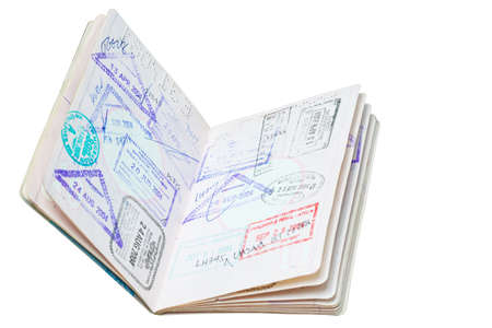 authorisation: Passport stamp for travel concept background