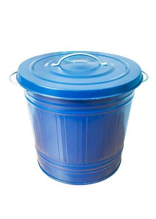 trash bin isolated on white background photo