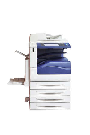 multifunction laser printer, scanner, xerox, isolated on white background Banco de Imagens