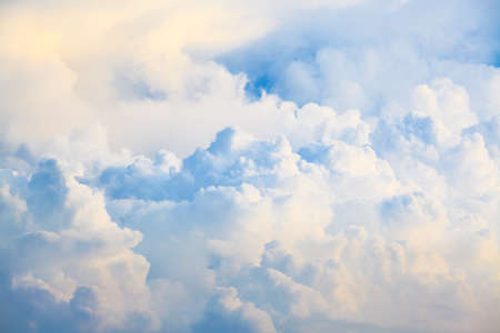 Blue sky and big clouds abstract Stock Photo