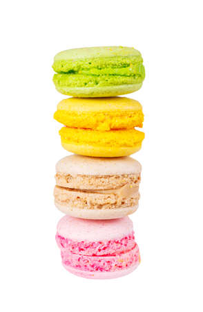 traditional french colorful macaron photo