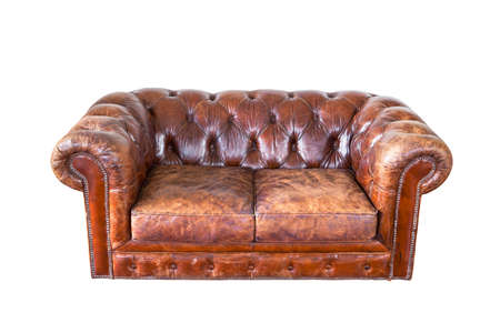 vintage classic brown grunge leather chair sofa photo