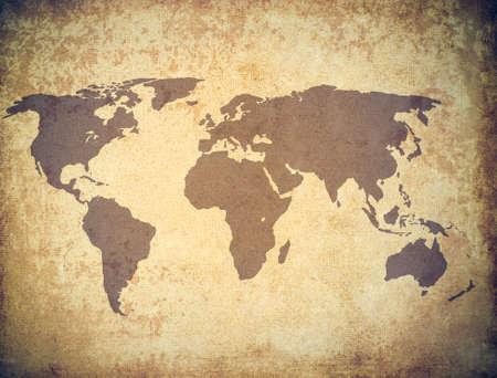 world map grunge photo