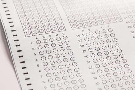 Exam carbon paper computer sheet photo