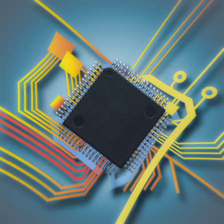 electronic chip and circuit 写真素材