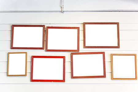 photo frames on the vintage wall photo