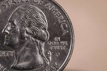 in god we trust: US American coin with wording in God we trust Stock Photo