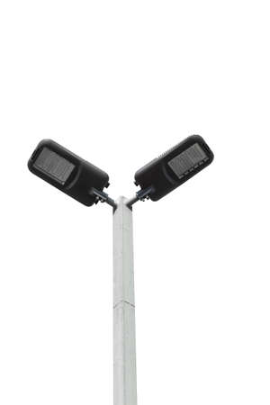 street lamps: LED street lamps post on white background