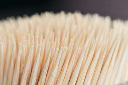 detritus: Bamboo wooden toothpicks abstract background