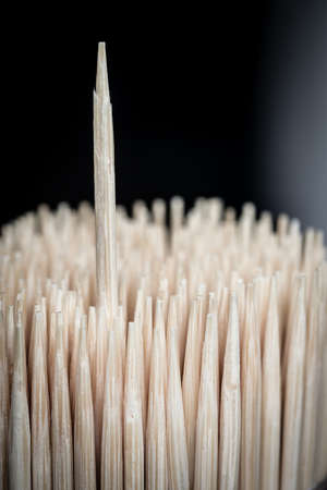 detritus: Bamboo wooden toothpicks outstanding abstract background