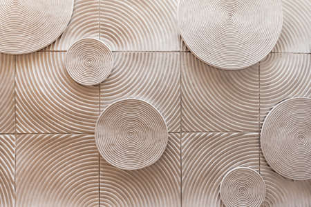 brown wallpaper: abstract circle shape of stone texture background