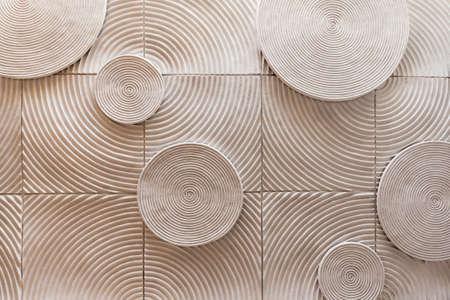 piso piedra: forma de círculo abstracto de piedra textura de fondo