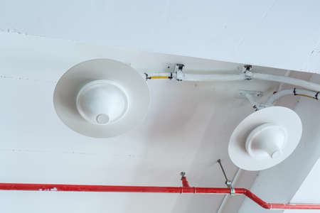 gprs: Cell mobile phone equipment antenna telecommunications transmitters wireless communication installed at ceiling