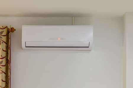 power off: air conditioner install on wall for condo or meeting room, power off