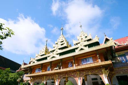 sangkhla buri: Wat Wang Wiwekaram, most revered Buddhist temple in Sangkhla Buri district in Sangkhlaburi District, Kanchanaburi Thailand,on December 27, 2015